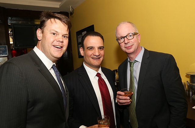Jay Lugosch of CIBC, Dom Guerriero of Bank of America, and Phil Miller of Macquarie