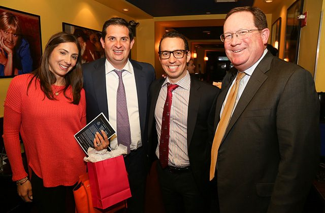 Meredith Sotoloff and Peter Sotoloff, J.D. Siegel, and Mike McGillis of Mack Real Estate