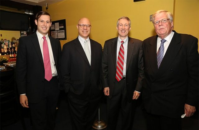 Josh Wolfgang, Bob Spinna, and Dave Rogers of Park Bridge Financial; Brian Haynes