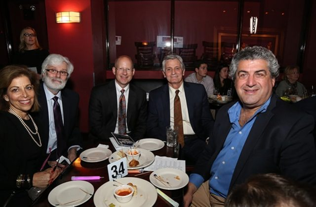 Laurie Kamhi, Louis Russo, and Geoff Gregory of HighTower; Dr. Richard P. Mayeux of Columbia University Medical Center; Marc Landis of Phillips Nizer
