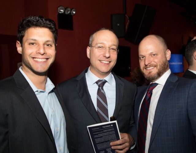 Thomas Patalano of McGuire Woods, Robert Goodstein and Etan Moskovic of Cassin & Cassin